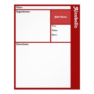 Página da receita (obscuridade - vermelho) flyer 21.59 x 27.94cm
