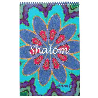 Página do solteiro da mandala de Shalom de 2017 Calendário