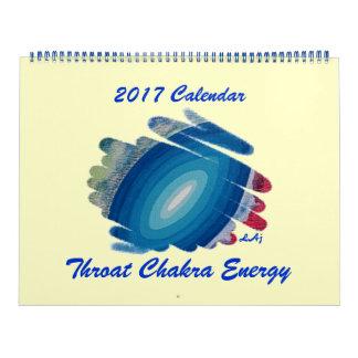 Página dois enorme azul do calendário de Chakra