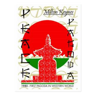 Pagode da paz do cartão ocidental