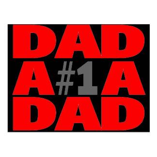 Pai #1 cartão postal