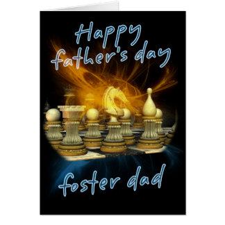 Pai adoptivo - cartão do dia dos pais - xadrez