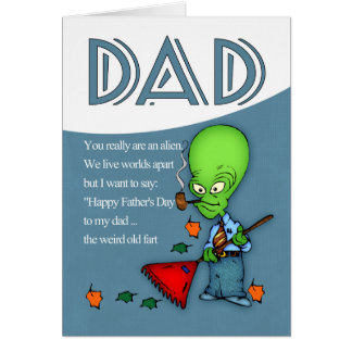 Pai, alienígena cómico do dia dos pais cartão comemorativo