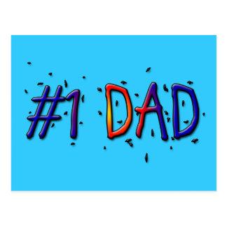 Pai azul do dia dos pais #1 cartão postal