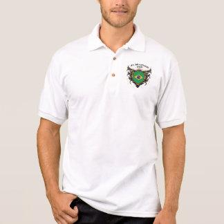 Pai brasileiro do número um camisa polo