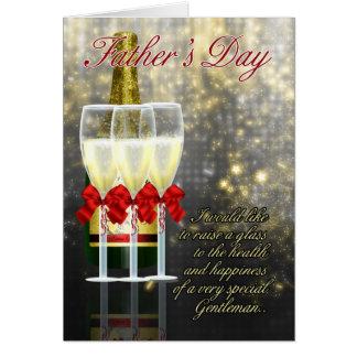 Pai - cartão do dia dos pais - brinde de Champagne