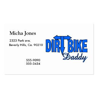 Pai da bicicleta da sujeira cartão de visita