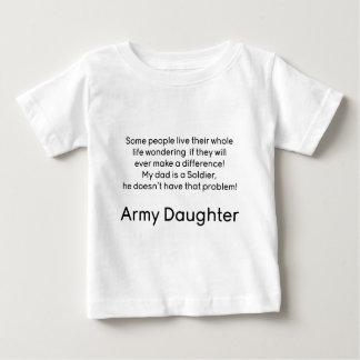Pai da filha do exército nenhum problema t-shirts
