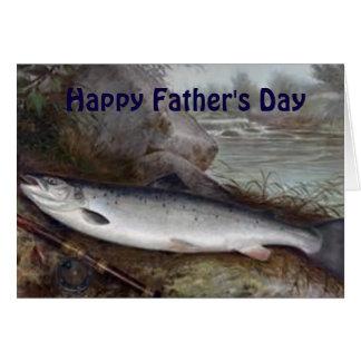 Pai da pesca cartão