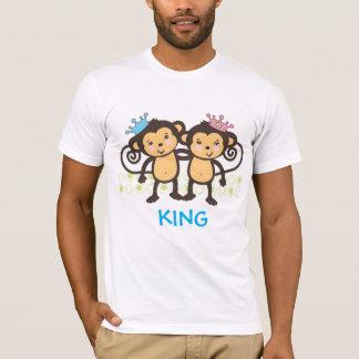 Pai de macacos gêmeos camiseta