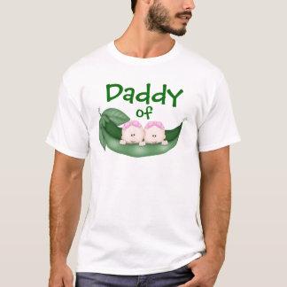 Pai de meninas gêmeas camiseta