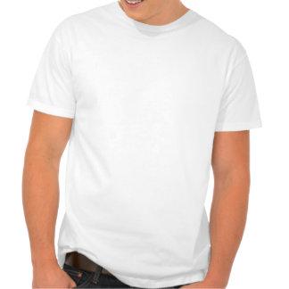 Pai de meninas gêmeas (pele escura) camisetas
