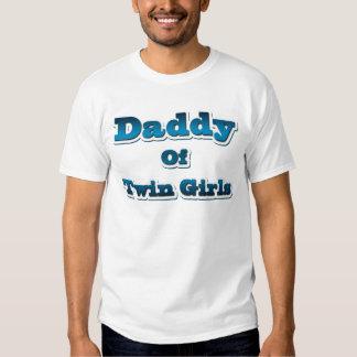 Pai de meninas gêmeas tshirts