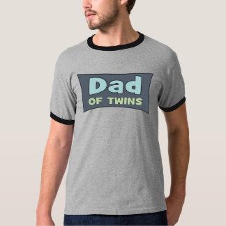 Pai de t-shirt dos gêmeos