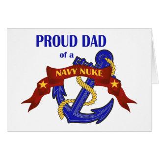 Pai de umas armas nucleares do marinho cartão comemorativo