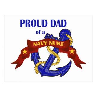 Pai de umas armas nucleares do marinho cartão postal