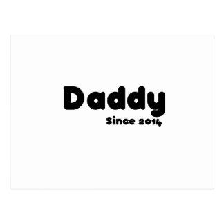 Pai desde 2014. Presente do dia dos pais Cartão Postal