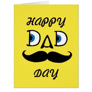 Pai - dia dos pais feliz cartão comemorativo grande