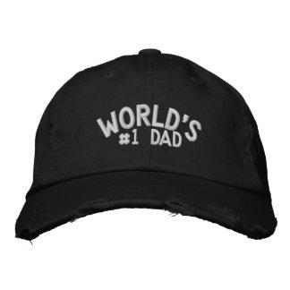 Pai do #1 do mundo boné bordado