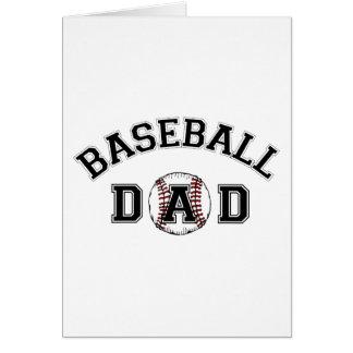 Pai do basebol do dia dos pais cartao