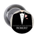 Pai do botão do pino do casamento do nome do smoki botons