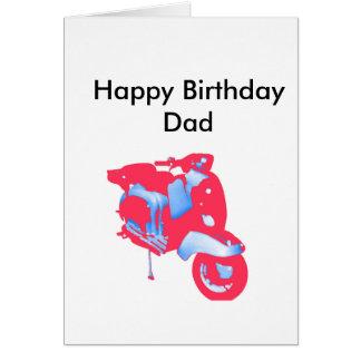 Pai do cartão de aniversário do patinete