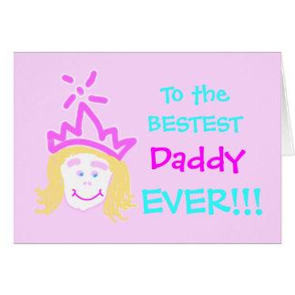 Pai do cartão & do verso do dia dos pais da prince
