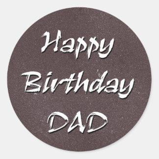 Pai do feliz aniversario adesivo