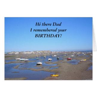 Pai do feliz aniversario cartão comemorativo