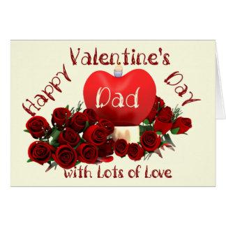 Pai do feliz dia dos namorados cartão comemorativo
