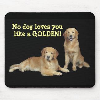Pai do golden retriever & filho Mousepad
