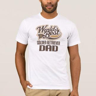 Pai do golden retriever (mundos melhores) camiseta