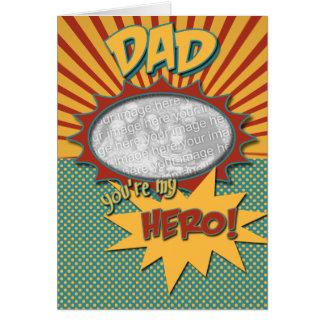 PAI do herói da banda desenhada do dia dos pais Cartão Comemorativo