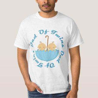 Pai do T do dia dos pais dos gêmeos Camiseta
