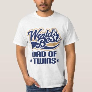Pai do T do dia dos pais dos gêmeos (mundos T-shirt