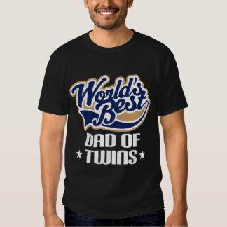 Pai do T do dia dos pais dos gêmeos T-shirt