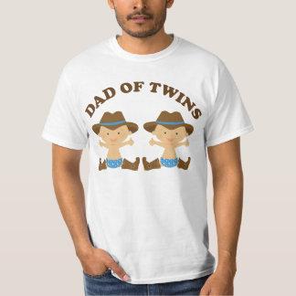 Pai do t-shirt do dia dos pais dos gêmeos camiseta