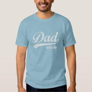 Pai do vintage desde [ano] o t-shirt escuro