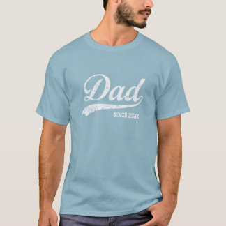 Pai do vintage desde [ano] o t-shirt escuro camiseta