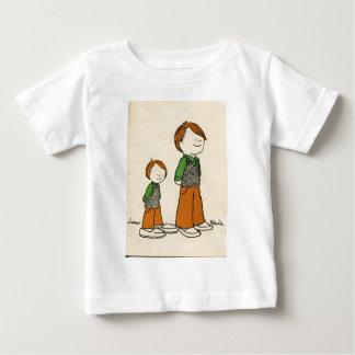 Pai e filho camiseta para bebê