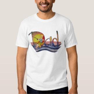 Pai e filho que pescam t-shirt artísticos do