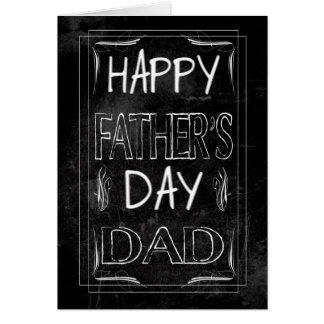 Pai, efeito do quadro com o pai feliz do dia dos cartão comemorativo