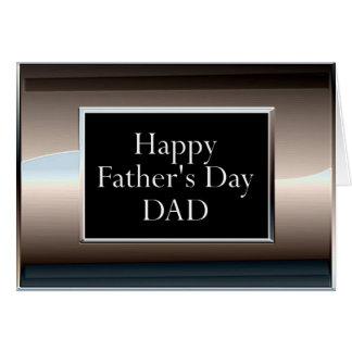 PAI feliz do dia dos pais Cartão Comemorativo