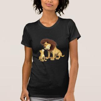 Pai & filho do leão dos desenhos animados camiseta