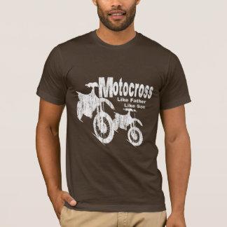 Pai/filho do motocross camiseta