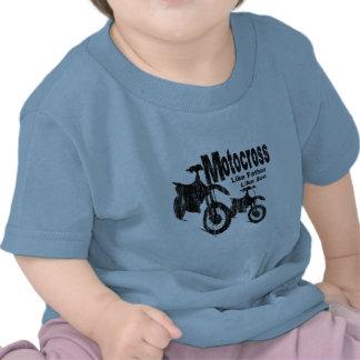 Pai/filho do motocross t-shirt