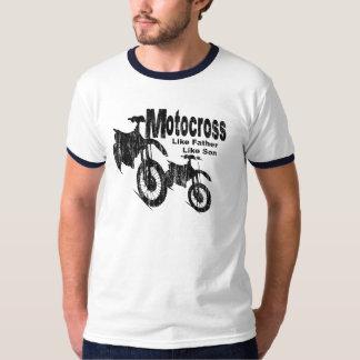 Pai/filho do motocross tshirt