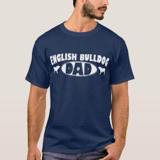 Pai inglês do buldogue camiseta