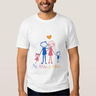 Pai, Mãe e filho Tshirt
