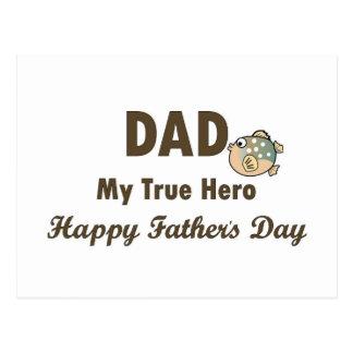 Pai meu dia dos pais feliz do herói verdadeiro cartao postal